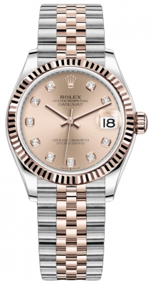 Rolex Datejust 31mm Stainless Steel and Rose Gold 278271 Gold Diamond Jubilee
