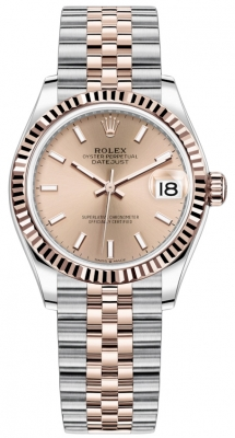 Rolex Datejust 31mm Stainless Steel and Rose Gold 278271 Gold Index Jubilee