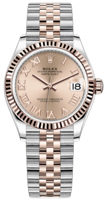 Rolex Datejust 31mm Stainless Steel and Rose Gold 278271 Gold Roman Jubilee