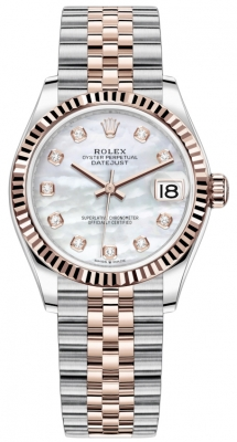 Rolex Datejust 31mm Stainless Steel and Rose Gold 278271 MOP Diamond Jubilee