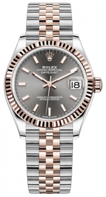 Rolex Datejust 31mm Stainless Steel and Rose Gold 278271 Rhodium Index Jubilee