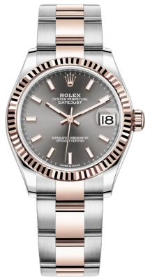 Rolex Datejust 31mm Stainless Steel and Rose Gold 278271 Rhodium Index Oyster