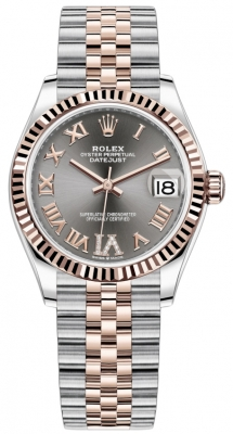 Rolex Datejust 31mm Stainless Steel and Rose Gold 278271 Rhodium Roman VI Jubilee