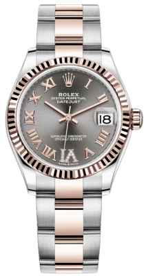 Rolex Datejust 31mm Stainless Steel and Rose Gold 278271 Rhodium Roman VI Oyster