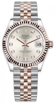 Rolex Datejust 31mm Stainless Steel and Rose Gold 278271 Silver Diamond Jubilee