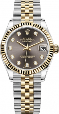Rolex Datejust 31mm Stainless Steel and Yellow Gold 278273 Grey Diamond Jubilee
