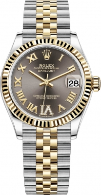 Rolex Datejust 31mm Stainless Steel and Yellow Gold 278273 Grey VI Roman Jubilee
