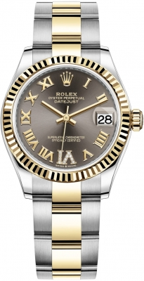 Rolex Datejust 31mm Stainless Steel and Yellow Gold 278273 Grey VI Roman Oyster