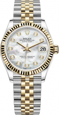 Rolex Datejust 31mm Stainless Steel and Yellow Gold 278273 MOP Diamond Jubilee