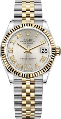 Rolex Datejust 31mm Stainless Steel and Yellow Gold 278273 Silver VI Roman Jubilee