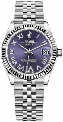 Rolex Datejust 31mm Stainless Steel 278274 Aubergine VI Jubilee