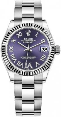 Rolex Datejust 31mm Stainless Steel 278274 Aubergine VI Oyster