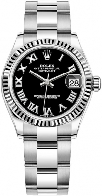 Rolex Datejust 31mm Stainless Steel 278274 Black Roman Oyster