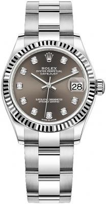 Rolex Datejust 31mm Stainless Steel 278274 Dark Grey Diamond Oyster