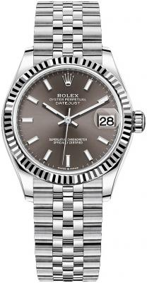 Rolex Datejust 31mm Stainless Steel 278274 Dark Grey Index Jubilee