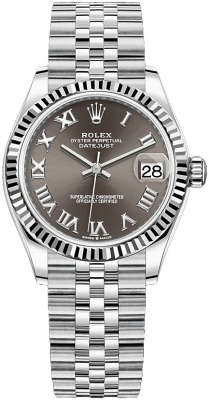 Rolex Datejust 31mm Stainless Steel 278274 Dark Grey Roman Jubilee