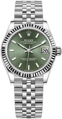 Rolex Datejust 31mm Stainless Steel 278274 Mint Green Index Jubilee