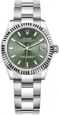 Rolex Datejust 31mm Stainless Steel 278274 Mint Green Index Oyster