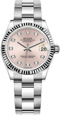 Rolex Datejust 31mm Stainless Steel 278274 Pink Diamond Oyster