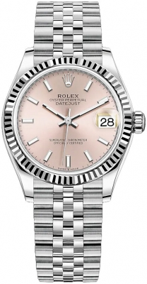 Rolex Datejust 31mm Stainless Steel 278274 Pink Index Jubilee