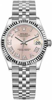 Rolex Datejust 31mm Stainless Steel 278274 Pink Roman Jubilee