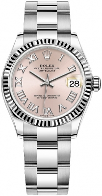 Rolex Datejust 31mm Stainless Steel 278274 Pink Roman Oyster