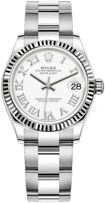 Rolex Datejust 31mm Stainless Steel 278274 White Roman Oyster