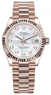 Rolex Datejust 31mm Everose Gold 278275 MOP Diamond President