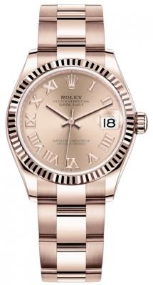 Rolex Datejust 31mm Everose Gold 278275 Pink Roman Oyster
