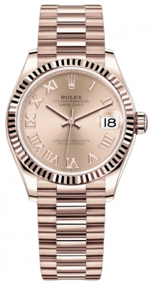 Rolex Datejust 31mm Everose Gold 278275 Pink Roman President
