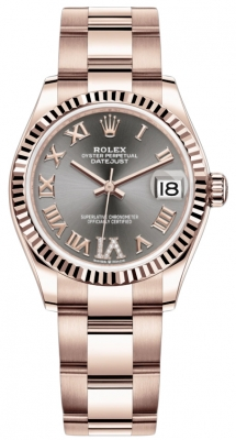 Rolex Datejust 31mm Everose Gold 278275 Rhodium VI Roman Oyster
