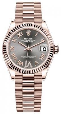 Rolex Datejust 31mm Everose Gold 278275 Rhodium VI Roman President