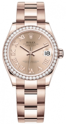 Rolex Datejust 31mm Everose Gold 278285rbr Pink Roman Oyster