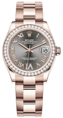 Rolex Datejust 31mm Everose Gold 278285rbr Rhodium VI Roman Oyster