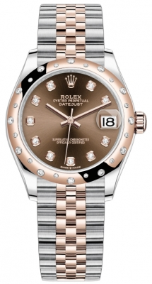 Rolex Datejust 31mm Stainless Steel and Rose Gold 278341rbr Chocolate Diamond Jubilee