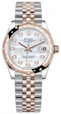 Rolex Datejust 31mm Stainless Steel and Rose Gold 278341rbr MOP Diamond Jubilee