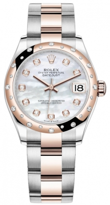Rolex Datejust 31mm Stainless Steel and Rose Gold 278341rbr MOP Diamond Oyster