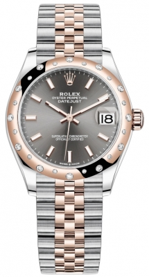 Rolex Datejust 31mm Stainless Steel and Rose Gold 278341rbr Rhodium Index Jubilee