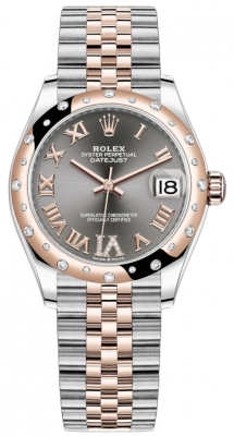 Rolex Datejust 31mm Stainless Steel and Rose Gold 278341rbr Rhodium VI Roman Jubilee