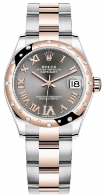 Rolex Datejust 31mm Stainless Steel and Rose Gold 278341rbr Rhodium VI Roman Oyster