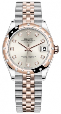 Rolex Datejust 31mm Stainless Steel and Rose Gold 278341rbr Silver Diamond Jubilee
