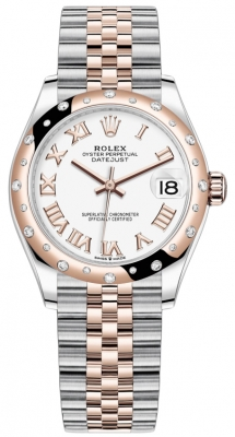 Rolex Datejust 31mm Stainless Steel and Rose Gold 278341rbr White Roman Jubilee