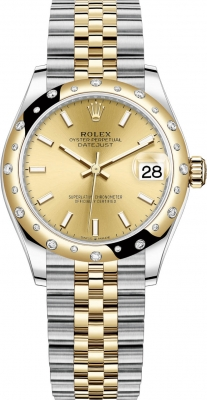 Rolex Datejust 31mm Stainless Steel and Yellow Gold 278343rbr Champagne Index Jubilee