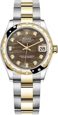 Rolex Datejust 31mm Stainless Steel and Yellow Gold 278343rbr Champagne Index Oyster