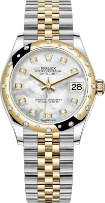 Rolex Datejust 31mm Stainless Steel and Yellow Gold 278343rbr MOP Diamond Jubilee