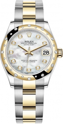 Rolex Datejust 31mm Stainless Steel and Yellow Gold 278343rbr MOP Diamond Oyster