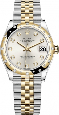 Rolex Datejust 31mm Stainless Steel and Yellow Gold 278343rbr Silver Diamond Jubilee