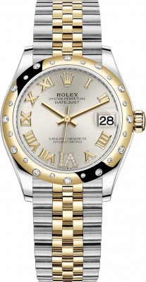 Rolex Datejust 31mm Stainless Steel and Yellow Gold 278343rbr Silver VI Roman Jubilee