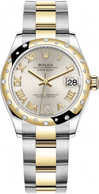 Rolex Datejust 31mm Stainless Steel and Yellow Gold 278343rbr Silver VI Roman Oyster