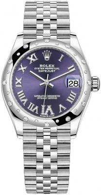 Rolex Datejust 31mm Stainless Steel 278344rbr Aubergine VI Jubilee